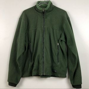 Men's REI Green Polartec Full Zip Collar Fleece -L